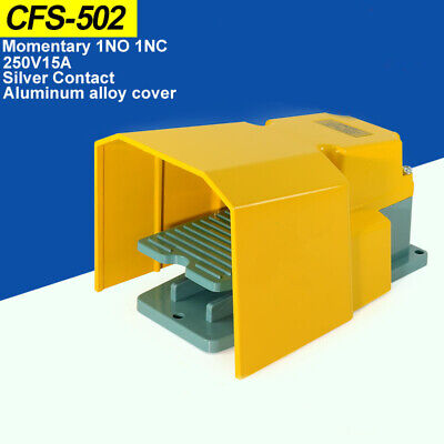 Industrial Foot Pedal Switch With Yellow Cover CFS-502 For Lathe, Motor Etc
