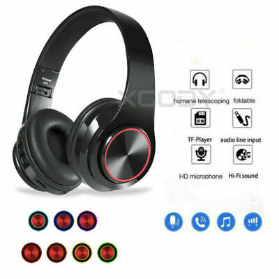 Wireless Headphones Stereo Bluetooth Headset Noise Cancelling Over Ear With Mic