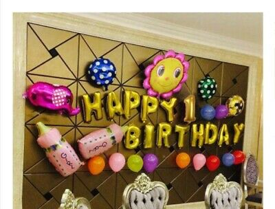 D26 Red/Gold Foil Balloons Alphabet /Number Birthday Weding Party Balloon