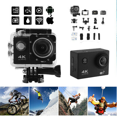 4K UHD 1080P 30M Waterproof Sport Camera WiFi for Action Camcorder