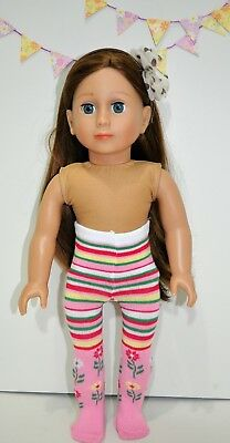 """American Girl Doll Our Generation Journey 18"""" Dolls Clothes Pretty Tights"""