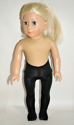"""American Girl Doll Our Generation Journey 18"""" Dolls Clothes Black Lycra Tights"""