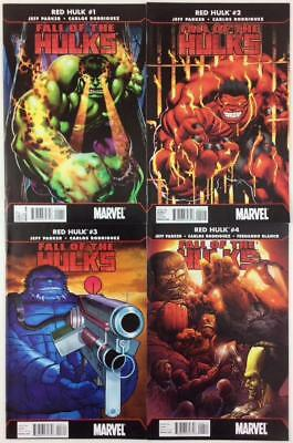 Red Hulk Fall of the Hulks #1 to #4 complete series (Marvel 2010) 4 issues.