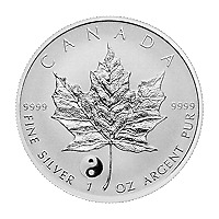 Lot of 25 x 1 oz 2016 Canadian Maple Leaf Yin Yang Privy Reverse Proof Silver Co