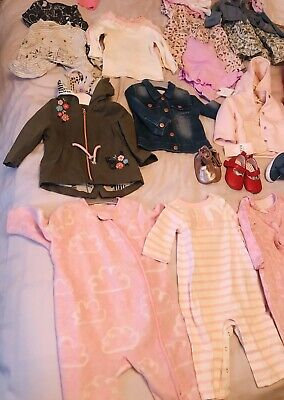 Large Bundle Baby Girls Clothes 3-6 Months. Many New With Tags. Next, F&F, M&S