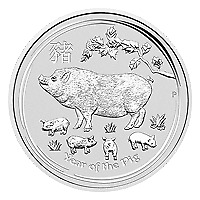 Lot of 20 x 1 oz 2019 Perth Mint Lunar Year of the Pig Silver Coin