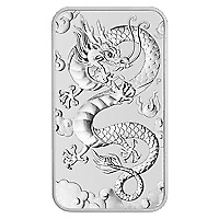 Lot of 20 x 1 oz 2019 Perth Mint Dragon Silver Rectangular Coin