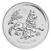 Lot of 20 x 2 oz 2018 Perth Mint Lunar Year of the Dog Silver Coin