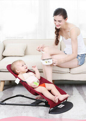 D131 Red Cotton Baby Bed Folding Bed Novelty Folding Baby Balance Cradles Chair