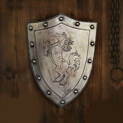 D25 Europe Retro Medieval Shield Antique Knight Armour Wall Home Decor Full Size