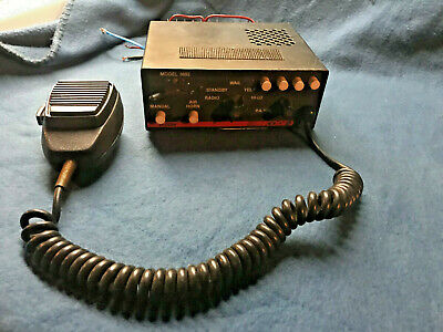 Vintage Code 3 PSE Siren/PA 200W Model V-CON 3692 w Light Controls/Switchbox