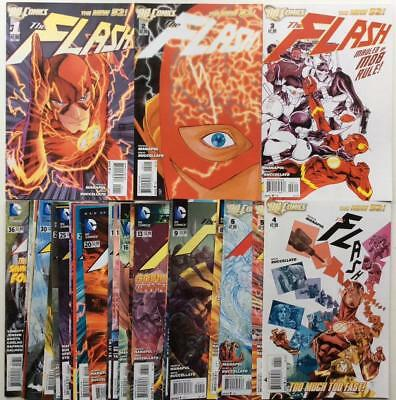 The Flash #1 to #36 near unbroken run (DC New 52. 2011) 35 x issues.