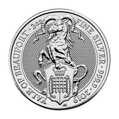 2 oz 2019 Royal Mint Queen's Beasts | Yale of Beaufort Silver Coin