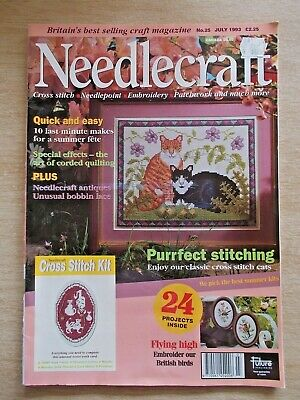 Needlecraft #25~Cross Stitch~Embroidery~Needlepoint~Quilt~Tie~Gifts~Cats~Birds