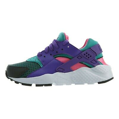 new style 6aa3f cc57d Nike Huarache Run Gs Grade School Green Grape Purple Girls Boys Women  Bq7096-300