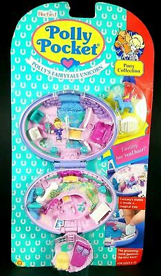 *NEW* Polly Pocket 1995 UNICORN MEADOW Vintage Bluebird Purple Oval Case