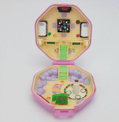 "POLLY POCKET ""Suki's Japanese Tea House"" 1990 Vintage Bluebird Pink Compact Case"