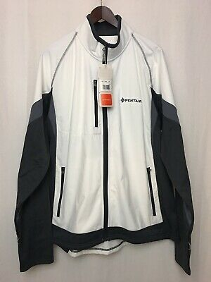 84c878e8ffdaf NEW ELEVATE SPORT Mens Jacket Size L/G White And Gray Smartech