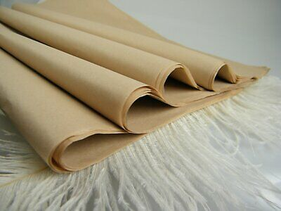 kraft tissue wrapping paper~12 brown sheets~20 GSM gifts_100% recycled Natural