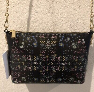 f660166140 Brand New TED BAKER London Sofhi Unity Flag Floral Black Crossbody Bag