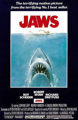 "JAWS  ( 11"" x 17"" ) Movie Collector's Poster Print - B2G1F"