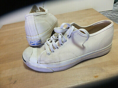 8ff3c1757736 Vintage 80s 90 s Converse Jack Purcell Sneakers White Canvas USA MADE Men s  8