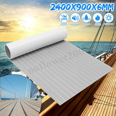 "94""x35"" 6mm Marine Yatch Car Flooring Faux Teak EVA Foam Boat Decking Sheet"