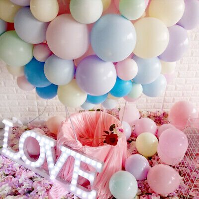 """10/100Pcs 10"""" Round Latex Balloon Birthday Pastel Party Solid Accessory NEW"""