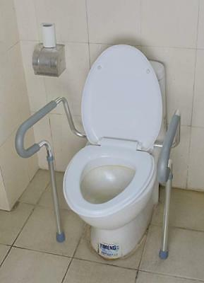 MU-2010 Sturdy Aluminum Bathroom Toilet Safety Assist Frame with Adjustable Legs