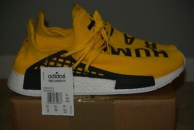 6e738131bcfe9 Pharrell Williams x Adidas NMD Human Race Yellow Size Mens 10 Real New with  tags