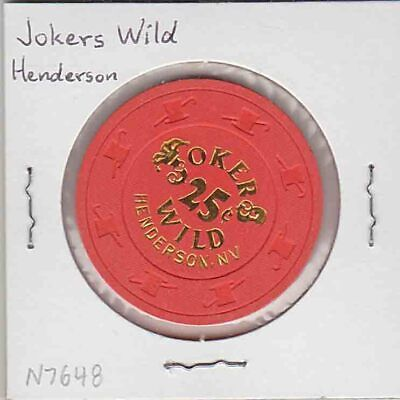 Vintage 25¢ chip from the Jokers Wild Casino (1993) Henderson, NV