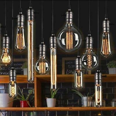 Dimmable E27 E14 B22 40W 60W Edison Vintage Filament  Lamp Bulb Globe Light