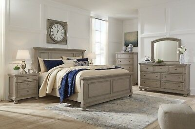 ASHLEY FURNITURE LETTNER Queen Panel 6 Piece Bedroom Set