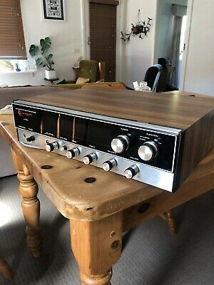 Vintage Awa Qx-520 Solid State Am/fm Stereo Tuner Radio Woodgrain Works Well