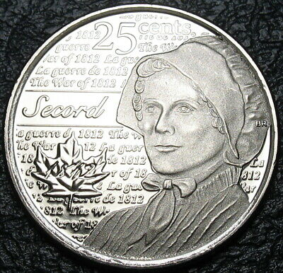 RCM - 2013 - 25-cents - Laura Secord - Non-colorized - Uncirculated