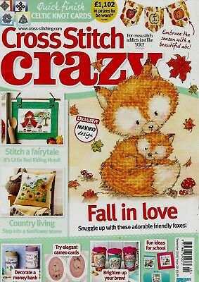 Cross Stitch Crazy  Magazine Issue  245.  September  2018.    No Free Gift.