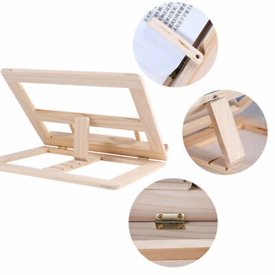 Adjustable Wooden Book Stand Cook Book Display Folding Holder 25*31CM Fine EW