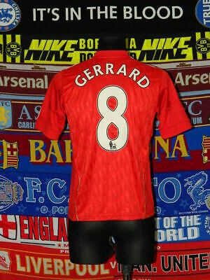 4.5/5 Liverpool boys 14 years 164cm #8 Gerrard football shirt jersey trikot