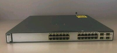 CISCO WS-C3750G-24PS-S Switch 24xGE PoE 4xSFP Stackable