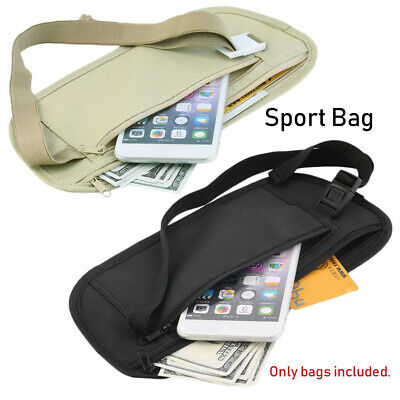 Travel Pouch Hidden Wallet Passport Money Waist Belt Bag Slim Security