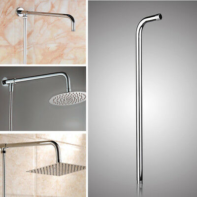 """24"""" 60CM Wall Shower Head Extension Pipe Long Stainless Steel Arm Bathroom"""