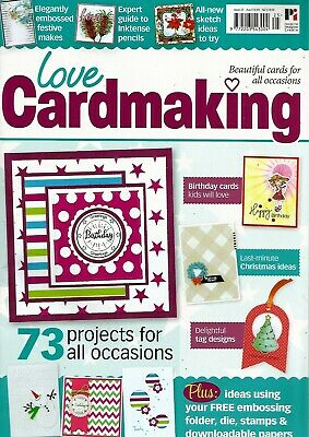Love Cardmaking  Magazine  Issue 25.  Free Sweet Sentiments Stamps Set