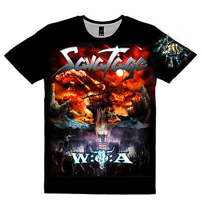 """7XL S NEW T-SHIRT /"""" SAVATAGE The Dungeons Are Calling /"""" DTG PRINTED TEE"""