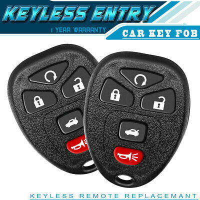 10P New Replacement Keyless Entry Remote Control Fob Clicker 15008008 MYT3X6898B