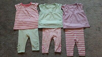 Baby & Toddler Clothing Baby Girl Matching Top With 3 X Leggings Bundle From Next 0-3 Months