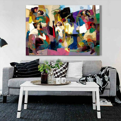 Abstract Figures Hand Painted Oil Painting Canvas Gifts Modern Home Decor Wall