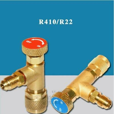 Useful Safety Charging Shut Off Ball Valve Air Refrigerant Valves Gauges Tool T