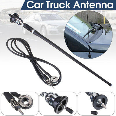 Rover Car Stereo Rubber Mast Universal Wing Roof Chrome Base Antenna Aerial