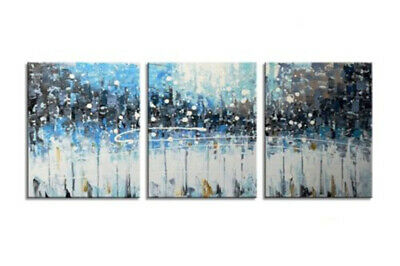3P Modern Hand Painted Scenery Oil Painting Wall Abstract Home Decor Canvas Art