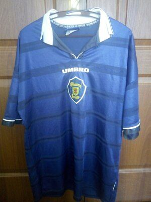 Scotland National Team 1998/2000 Home Football Shirt Maglia Jersey Umbro